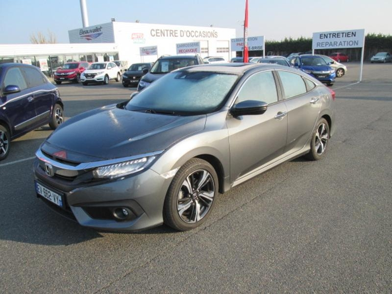 Honda Civic 1.5 i-VTEC 182ch Exclusive CVT 4p Essence GRIS ACIER Occasion à vendre